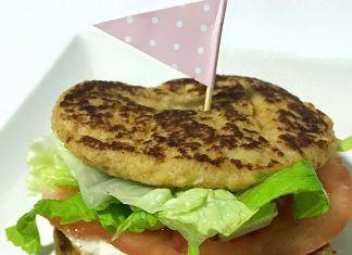 como hacer Hamburguesa de pollo y queso FIT receta