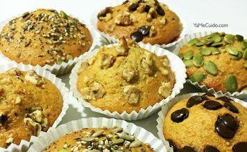 como hacer Magdalenas de harina de avena con chocolate y semillas receta