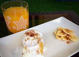 como hacer Mugcake de Plátano y Canela FIT receta