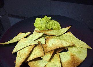 como hacer Nachos de espinacas con guacamole FIT receta