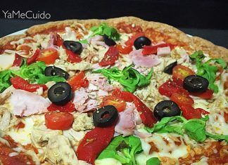 como hacer Pizza low carb con masa de pollo receta