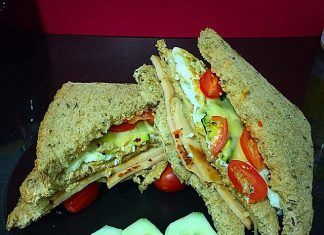 como hacer Sandwich de Fiambre de pechuga de pavo receta