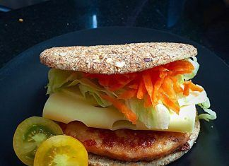 como hacer Sandwich thins de hamburguesa de pollo receta
