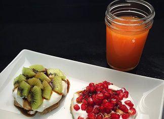 como hacer Tortitas (Pancakes) de canela y fruta receta