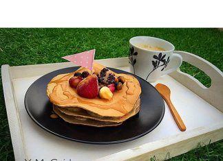 como hacer Tortitas (Pancakes) de chocolate