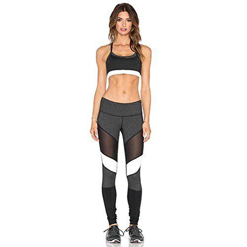 HARRYSTORE Mujer Pantalones elásticos y deportivos de yoga