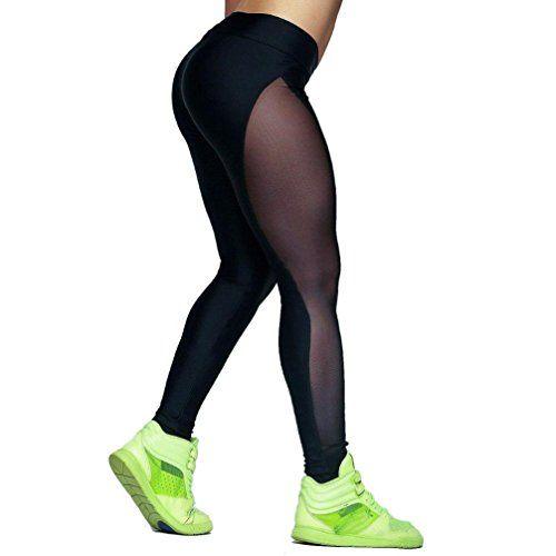 HARRYSTORE Pantalones elásticos de yoga Patelones deportivos para correr