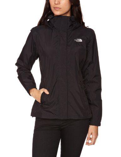 The North Face Resolve - Chubasquero para mujer, color negro, talla L