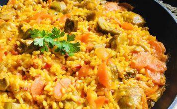 Receta de arroz con alcachofas
